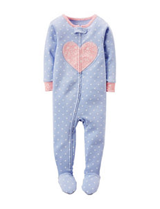 Carter's® Light Blue Heart Sleep & Play – Baby 12-24 Mos.
