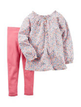 Carter's® 2-pc. Floral Print Top & Legging Set – Baby 12-24 Mos.