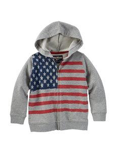Oshkosh B'gosh® Grey American Flag Hoody – Toddler & Boys 4-7