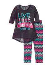 One Step Up 2-pc. Live Love Shirt & Aztec Leggings Set