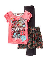 One Step Up 3-pc. Always Love Yourself Skirt Set - Girls 7-16
