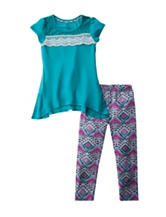 One Step Up 2-pc. Top & Aztec Print Leggings Set - Girls 7-16