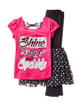 One Step Up 3-pc. Shine Bright & Sparkle Skirt Set