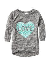 Miss Chevious Love Heart Knit Top – Girls 7-16