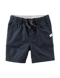 Carter's® Navy Poplin Shorts – Toddler Boys