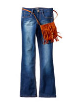 Squeeze Bootcut Jeans with Purse - Girls 7-16