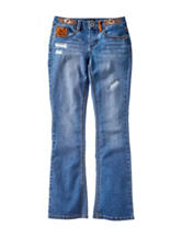 Squeeze Floral Embroidered Bootcut Jeans - Girls 7-16