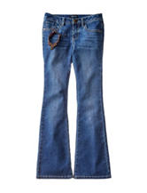 Squeeze Floral Embroidered Bootcut Jeans –Girls 7-14