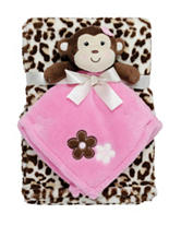 Baby Gear 2-pc Animal Print with Monkey Security Blanket
