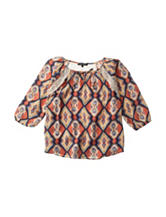 My Michelle Lace Aztec Print Top - Girls 7-16