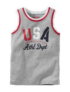 Oshkosh B'gosh® Grey USA Muscle Tank – Toddler Boys