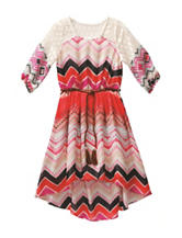 Emily West Crochet Chevron Print Dress - Girls 7-16