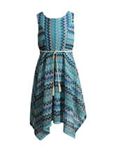 Emily West Missoni Chevron Print Dress - Girls 7-16