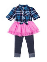 Little Lass Plaid Top & Jeggings Set – Baby 12-24 Mos.