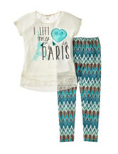 Self Esteem 2-pc. I Left My Heart in Paris Leggings Set - Girls 7-16