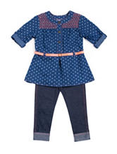 Little Lass 2-pc. Chambray Hearts Top & Leggings Set – Baby 12-24