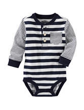 OshKosh Bgosh® Navy & White Striped Print Bodysuit - Baby 3-24 Mos.