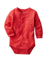 OshKosh B'gosh® Red Henley Bodysuit - Baby 3-24 Mos.