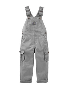 OshKosh B'gosh® Grey Canvas Overalls –Baby 3-24 Mos.