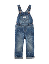 Oshkosh B'gosh® Light Wash Heart Print Overalls – Baby 3-24 Mos.