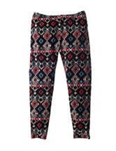 One Step Up Multicolor Aztec Print Leggings - Girls 7-16