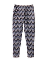 One Step Up Multicolor Chevron Print Leggings - Girls 7-16
