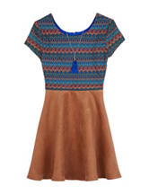 A. Byer Crochet Faux-Suede Dress - Girls 7-16