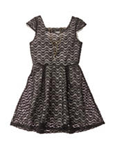 Pinky Charcoal Eyelash Dress - Girls 7-16