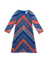 Rare Editions Chevron Crochet Knit Dress – Girls 7-16