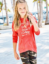 Hanging with my Friends Wild Hair Don't Care Hoodie – Girls 7-16
