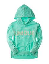 Hanging with my Friends Mint Unique Hoodie Top – Girls 7-16