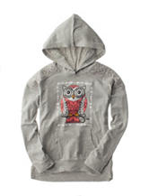Hanging with my Friends Grey Owl Hoodie Top – Girls 7-16