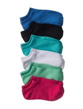 Capelli 6-pk. Solid Color No-Show Socks - Girls