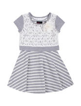 Little Lass Lace Popover Dress - Toddlers & Girls 4-6x