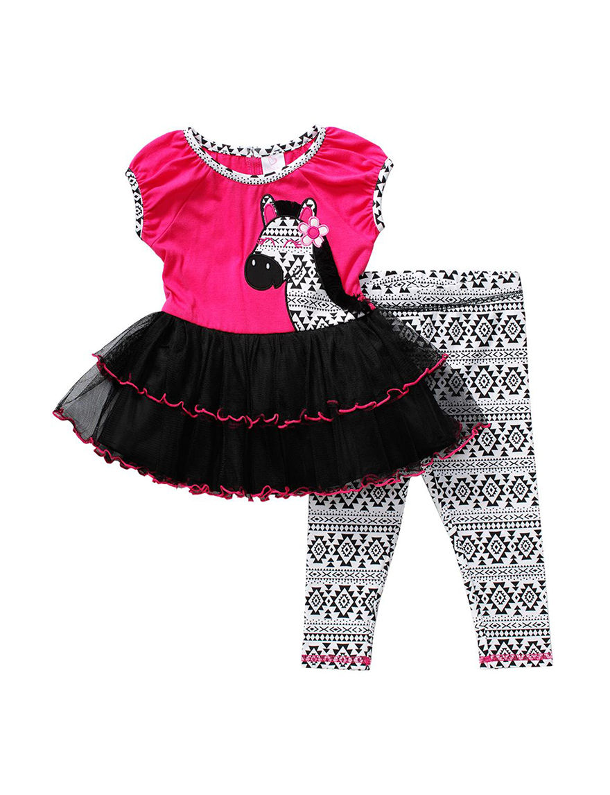 Youngland Pink / Black Leggings