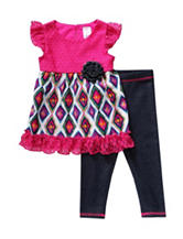 Youngland 2-pc. Diamond Crochet Legging Set – Baby 12-24 Mos.