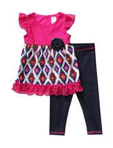 Youngland 2-pc. Diamond Crochet Legging Set – Baby 12-24 Mos.