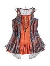 Beautees 2-pc. Embellished Top & Vest Set – Girls 7-16