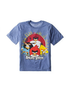 Angry Birds Heathered Blue Logo T-shirt – Boys 8-20