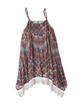 Beautees Chevron Print Lace Shift Dress – Girls 7-16