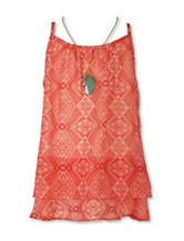 Speechless Aztec Print Top with Necklace - Girls 7-16