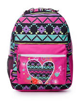 AD Sutton Light Up Heart Print Backpack