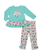Baby Gear Owl Top & Leggings Set - Baby 12-24 Mon.