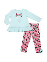 Baby Gear Little Cutie Top & Floral Print Leggings Set - Baby 12-24 Mon.