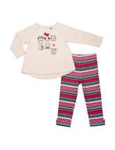 Baby Gear Owl Top & Aztec Print Leggings Set - Baby 12-24 Mon.