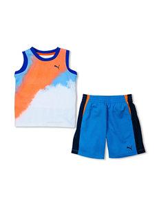 Puma® Color Block Art Muscle Tank & Shorts Set - Toddler Boys