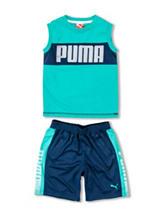 Puma® Logo Muscle Tank & Shorts Set - Boys 4-7