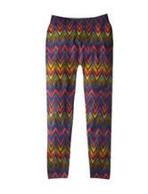 Squeeze Multicolor Chevron Print Leggings - Girls 7-16