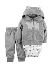 Carter's® 3-pc. Bear Terry Cardigan Set – Baby 0-18 Mos.