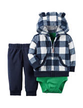 Carter's® 3-pc. Buffalo Check Jacket & Pants Set - Baby 0-18 Mos.